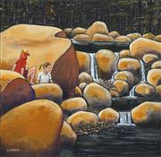 Sale 8693A - Lot 5029 - A D (Tony) North - Discovering Finch Hatton 60.5 x 61cm
