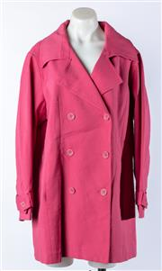 Sale 9027F - Lot 74 - A Pink Myers Double Breasted Overcoat Size L