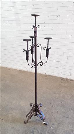 Sale 9137 - Lot 1051 - Metal candle stand (h:151cm)