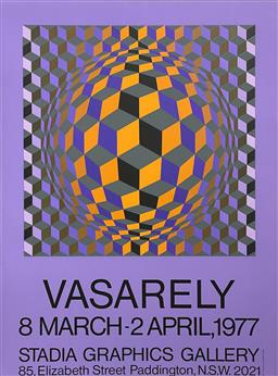 Sale 9189A - Lot 5063 - VICTOR VASARELY (1908 - 1997) 'Exhibition Poster for Stada Graphics Gallery, 1977' serigraph (unframed) 96.5 x 71.5 cm Editions Lahu.