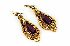 Sale 3808 - Lot 421 - A PAIR OF 14CT GOLD AMETHYST EARRINGS;