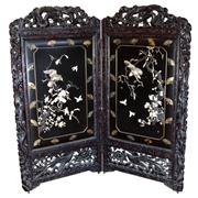 Sale 8162 - Lot 72 - Japanese Early Export Ware Panelled Screen