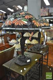 Sale 8338 - Lot 1634 - Pair Of Leadlight Table Lamps