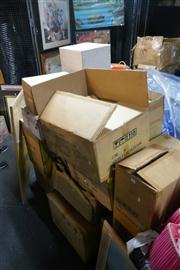 Sale 8362 - Lot 2461 - Boxes of Decorative items incl. Candle holders etc