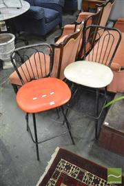 Sale 8406 - Lot 1140 - Pair of Retro Stools