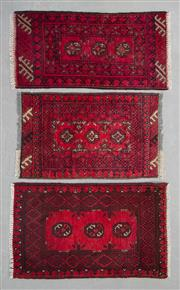 Sale 8499C - Lot 80 - 3 x Afghan Turkman 95cm x 55cm