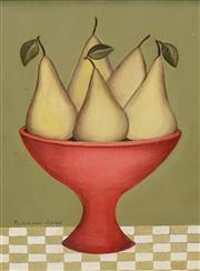 Sale 8549 - Lot 501 - Frances Jones (1923 - 1999) - Bowl of Pears 19.5 x 14.5cm
