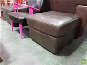 Sale 8554 - Lot 1053A - Pair of Leather Footstools