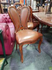 Sale 8611 - Lot 1088 - Set of 8 Leather Upholstered Dining Chairs