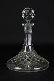 Sale 8890 - Lot 55 - A Yugoslavian Crystal Ships Decanter (H 27cm)