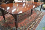 Sale 8291 - Lot 1095 - George IV Mahogany Extension Dining Table, with three leaves and six turned reeded legs