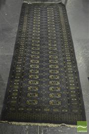 Sale 8305 - Lot 1052 - Runner with Rows of Medallions on Grey Field (84 x 235cm)