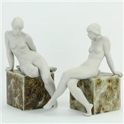 Sale 8372 - Lot 85 - Lladro Essence of Woman II & III Figures