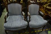 Sale 8472 - Lot 1075 - Pair of French Style Armchairs