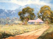 Sale 8526 - Lot 599 - Pat Murphy - Homestead Plains 29 x 39cm