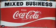 Sale 8661 - Lot 1072 - Vintage Tin Mixed Business Coca-Cola Sign