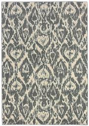 Sale 8651C - Lot 43 - Colorscope Collection; NZ Wool and Pure Silk Ikat - Charcoal/Cream Rug, Origin: China, Size: 160 x 230cm, RRP: $2199