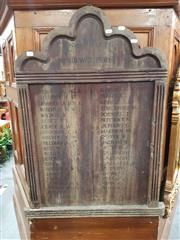 Sale 8769 - Lot 1071 - World War Honours Board