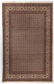 Sale 8800C - Lot 35 - A Persian Mood From Khorasan Region Very Fine 100% Wool And Silk Inlaid Pile, 200 x 302cm