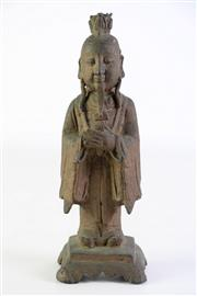 Sale 8897 - Lot 82 - Chinese Bronze Figure of An Elderly Man (H 24cm)