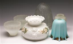 Sale 9144 - Lot 295 - Collection of glass light shades