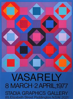 Sale 9189A - Lot 5064 - VICTOR VASARELY (1908 - 1997) 'Exhibition Poster for Stada Graphics Gallery, 1977' serigraph (unframed) 96.5 x 71.5 cm Editions Lahu.