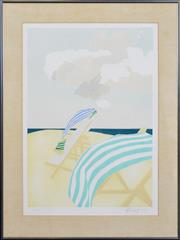 Sale 8301A - Lot 63 - Barbara Newcomb (1936 - ) - Deckchairs II, 1982 59 x 41cm
