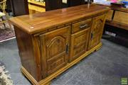 Sale 8566 - Lot 1739 - Timber Sideboard One Drawer and Three Doors