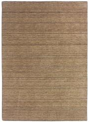 Sale 8651C - Lot 44 - Colorscope Collection; Wool And Viscose - Taupe/Brown Lines Handloomed Rug, Origin: Indi Size: 160 x 230cm, RRP: $1299