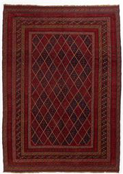 Sale 8740C - Lot 86 - A Persian Meshvani Village Rug, Wool On Cotton Foundation Classed As Tribal Sumak, 280 x 200cm