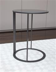Sale 8782A - Lot 22 - A Frank slate black occasional table by B&B Italia height 47 x diameter 35cm