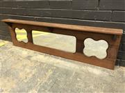 Sale 9006 - Lot 1086 - Art Deco Timber Framed Triple Panel Mirror (L:139cm)