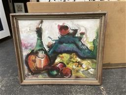Sale 9094 - Lot 2060 - Eva Hannah Still Life watercolour and gouache on paper laid on board 66 x 79cm (frame - AF) signed lower left