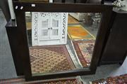 Sale 8161 - Lot 1047 - Square Brown Framed Mirror