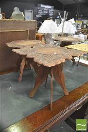 Sale 8406 - Lot 1067 - Set of Three Carved Indian Tables & Another (4)