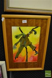 Sale 8458 - Lot 2067 - Hugo Kocken - The Scarecrow I, 92, framed acrylic on board, signed lower right