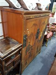 Sale 8700 - Lot 1058 - Oriental Cabinet with Revolving Front