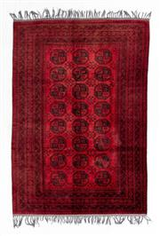 Sale 8800C - Lot 37 - An Afghan Tekke Hand Knotted Wool Rug, In A Hardy Weave Of Elephant Foot Design, 200 x 300cm