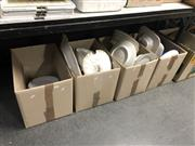 Sale 8797 - Lot 2520 - 4 Boxes of Various Dinnerwares incl. Plates, Tureens, etc