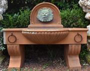 Sale 8950G - Lot 70 - A grc Roman style wall fountain  1.44m long 1.2m height 75cm deep
