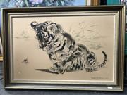 Sale 9033 - Lot 2068 - Ralph Thompson Tiger Cub and Bumble Bee lithograph, 48 x 70cm (frame)