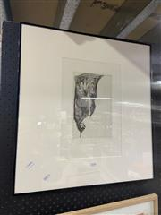 Sale 9041 - Lot 2076 - Frank Howell Emerging Cactus Flower lithograph ed. 9/50, 58 x 55cm (frame) -