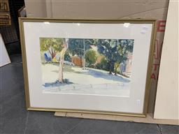 Sale 9094 - Lot 2045 - Artist Unknown (Stephenson), View of a Park, 1988, watercolour and ink, frame: 55 x 73 cm, signed and dated lower left -
