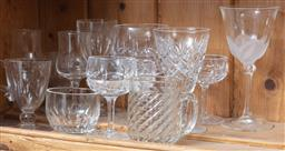 Sale 9120H - Lot 154 - A small group of assorted vintage glasswares in various sizes, Height of tallest 15cm