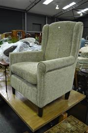 Sale 7987A - Lot 1282 - Green Wing Back Armchair