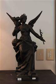 Sale 8022 - Lot 94 - Late 19th Century French Spelter Allegorical Figure of Arts and Science Lamp Base by Louis Moreau