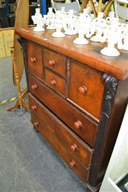 Sale 8050B - Lot 15 - Late 19th century cedar chest of seven drawers