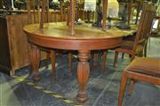Sale 8165 - Lot 1044 - Probably American Oak Large D-End Dining Table w 4 Leaves