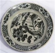 Sale 8319 - Lot 212 - Blue and White Swatow Chinese plate