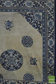Sale 8326 - Lot 1353 - Large Blue & White Chinese Carpet (270cm across)